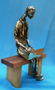 art, sculpture, bronze, figurative