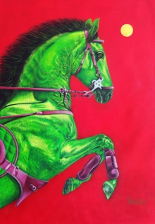 Animals Acrylic Art Painting title Unstoppable 4 by artist Sanket Sawant