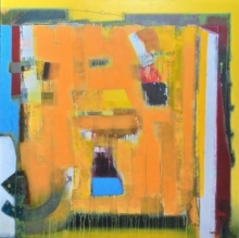 Abstract Acrylic Art Painting title 'Untitled 5' by artist Sachin Pakhale