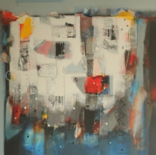 Abstract Acrylic Art Painting title 'Untitled 6' by artist Sachin Pakhale