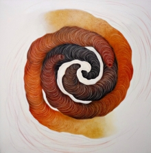 Abstract Mixed-media Art Painting title Meditation by artist Seema Kadam