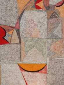 Abstract Mixed-media Art Painting title Untitled 33 by artist Bhushan Bhombale