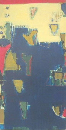 Abstract Acrylic Art Painting title 'Untitled 12' by artist Ravindra Pawar