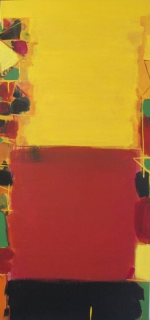 Abstract Acrylic Art Painting title Untitled 5 by artist Ravindra Pawar