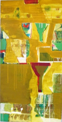 Abstract Acrylic Art Painting title Untitled 8 by artist Ravindra Pawar