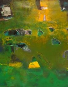 Abstract Acrylic Art Painting title 'Untitled 2' by artist Ranadip Mukherjee