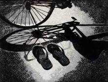 Attri Chetan | Me And My Friends Slipper Printmaking by artist Attri Chetan | Printmaking Art | ArtZolo.com