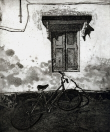 Attri Chetan | Story Behind Every Window 1 Printmaking by artist Attri Chetan | Printmaking Art | ArtZolo.com