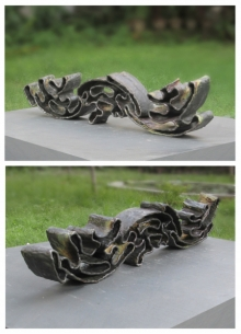 Ceramic Sculpture titled 'Wave' by artist Owanka Bhattacharjee
