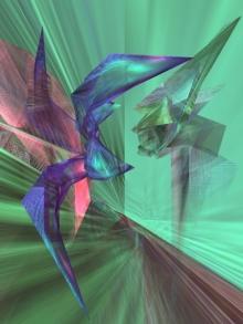 art, digital art, paper, abstract