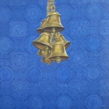 contemporary Acrylic Art Painting title Celestial Bells by artist Divya Chinni