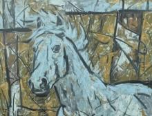 Animals Oil Art Painting title 'Untitled 61' by artist Santoshkumar Patil