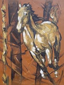 Animals Acrylic Art Painting title 'Untitled 74' by artist Santoshkumar Patil