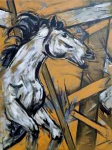 Animals Acrylic Art Painting title 'Untitled 76' by artist Santosh Patil