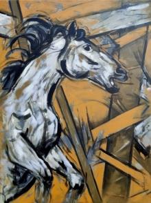art, painting, acrylic, canvas, animal, horse