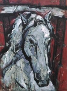 Animals Acrylic Art Painting title 'Untitled 84' by artist Santoshkumar Patil