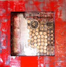 Vivek Rao | Decorative Assemblages V Mixed media by artist Vivek Rao on wood | ArtZolo.com