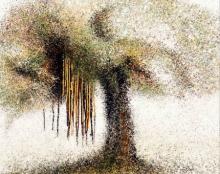 Nature Acrylic Art Painting title 'Banyan Series 1' by artist Aparna Bidasaria