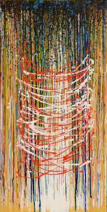 Abstract Acrylic Art Painting title 'Faith' by artist Aparna Bidasaria