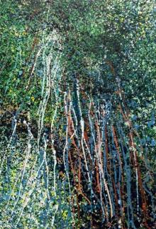 Abstract Acrylic Art Painting title 'Magna 2' by artist Aparna Bidasaria