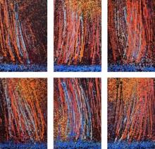 Nature Acrylic Art Painting title 'Maitree' by artist Aparna Bidasaria