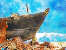 art, digital painting, canvas, seascape
