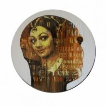 Figurative Acrylic Art Painting title 'Gitanjali' by artist Nayanjeet Nikam