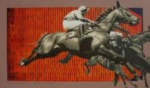 Figurative Acrylic Art Painting title Jockey by artist Nayanjeet Nikam