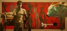 Figurative Acrylic Art Painting title Mumbai 23 by artist Nayanjeet Nikam