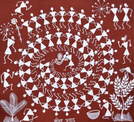 Warli Art by Sanjay Parhad | ArtZolo.com
